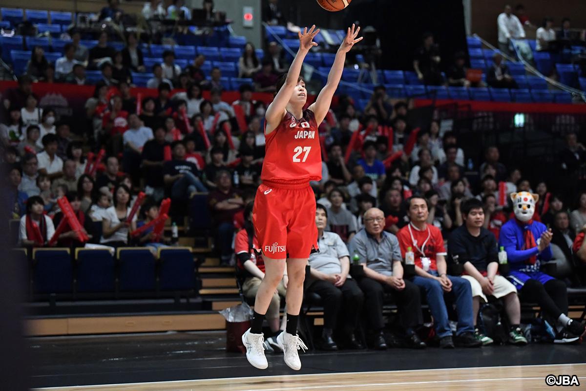 【レポート】「バスケットボール女子日本代表国際強化試合2019 三井不動産カップ (水戸大会)」第2戦:強豪ベルギーに2連勝し、水戸大会優勝